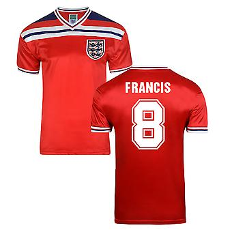 Score Draw England World Cup 1982 væk Shirt (Francis 8)