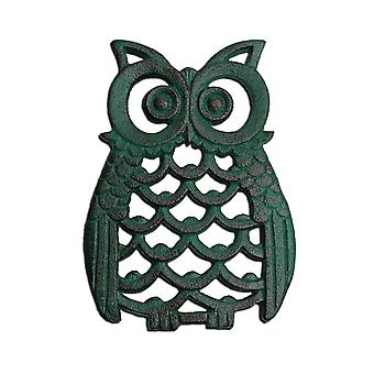 Amerikaanse Finish gietijzer Owl Wall Art Ornament