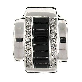 Kenneth Jay Lane Jet Black Baguette Ring