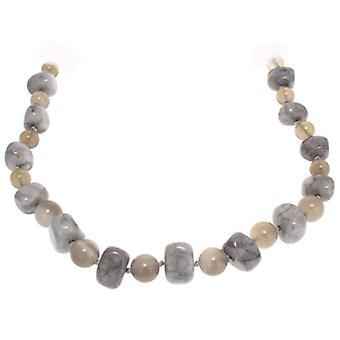 Lola Rose Mobi Necklace Grey Magnesite & Grey Agate