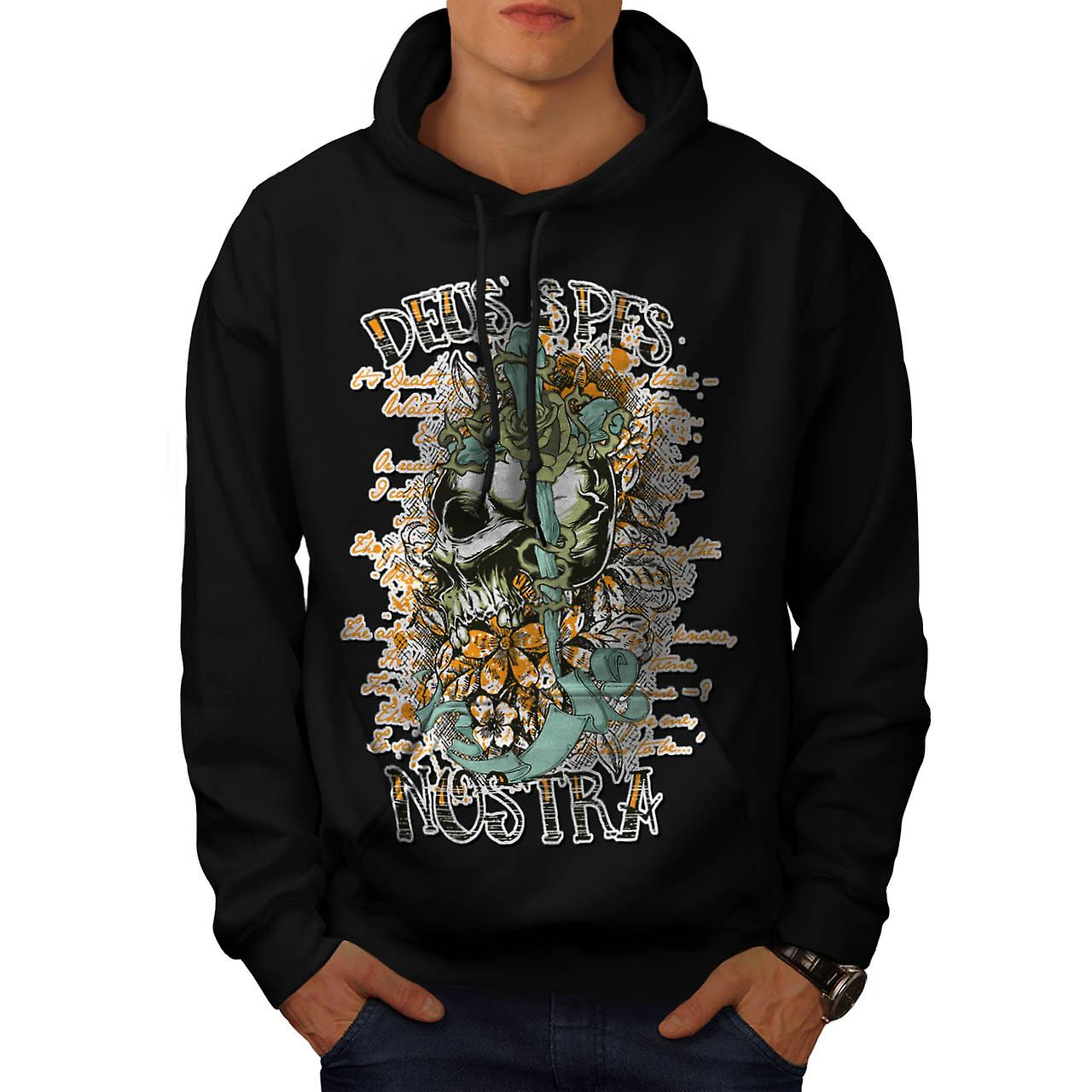 Monster Skull Curse Death Land Men Black Hoodie | Wellcoda