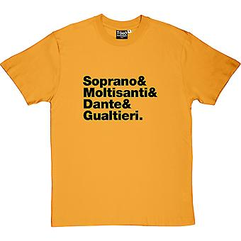 The Sopranos Line-Up Men's T-Shirt