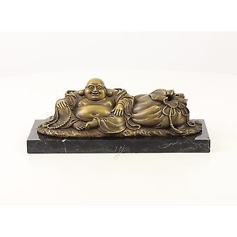 Bronze sculpture figure lachender Buddha