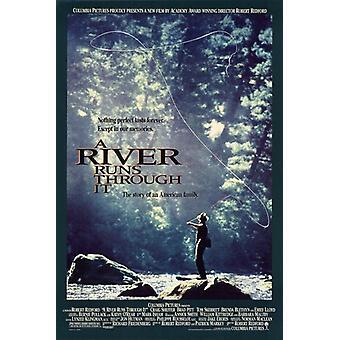 Elven renner gjennom en film plakat (11 x 17)