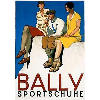 エミル ・ Cardinaux によってバリーの Sportschuhe ポスター印刷