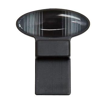 Oval Pin Tozo Glasses Holder in Black/Grey Stripe Design