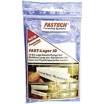 Hook-and-loop label patches stick-on White Fastech 610-010-Bag 10 pc(s)