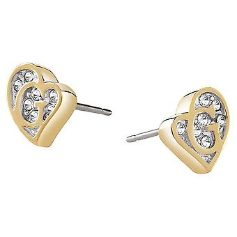 Guess ladies earrings stainless steel gold UBE71524