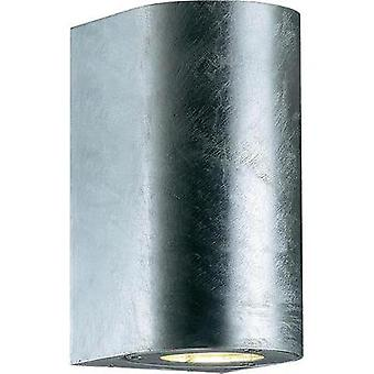 Outdoor wall light HV halogen GU10 70 W Nordlux Canto Maxi 77561031 Galvanized