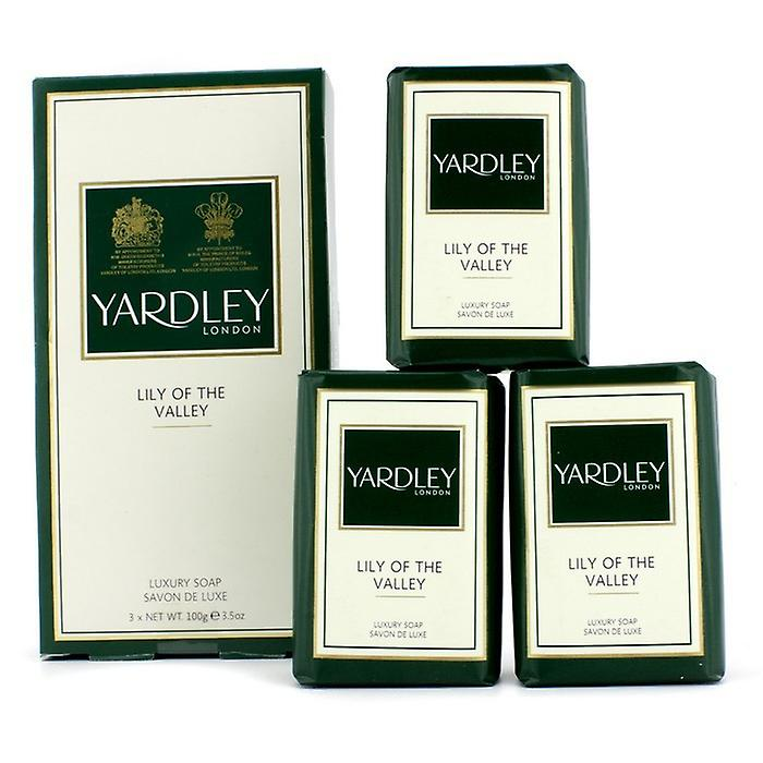Yardley Lily Of The Valley Luxury Soap 3x100g/3.5oz