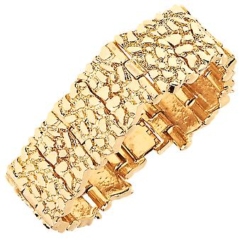 Iced Out Bling Hip Hop Armband - GOLD NUGGET
