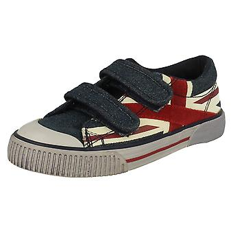 Boys Startrite Canvas Shoes Flag