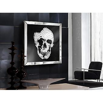 Schuller Skull Mirror Showcase, 60X60