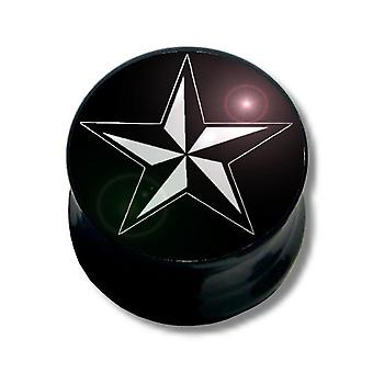 Ear Plug Piercing, corpo gioielli | Nautical Star, 6-16 mm