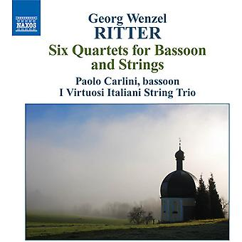 G.W. Ritter - Georg Wenzel Ritter: Six Quartets for Bassoon and Strings [CD] USA import