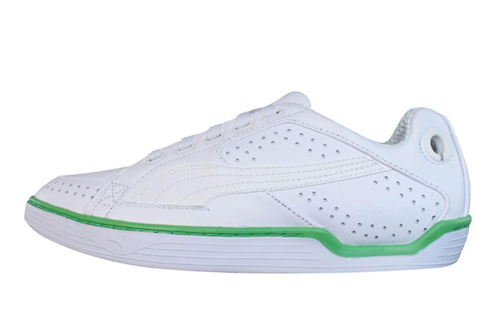 Puma Kite PL Mens Leather Trainers / Shoes - White