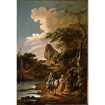 Colonia Adam - The Flight into Egypt Poster Print Giclee