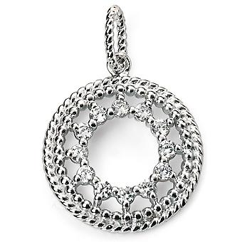 925 Silver Rhodium Plated And Zirconium Necklace