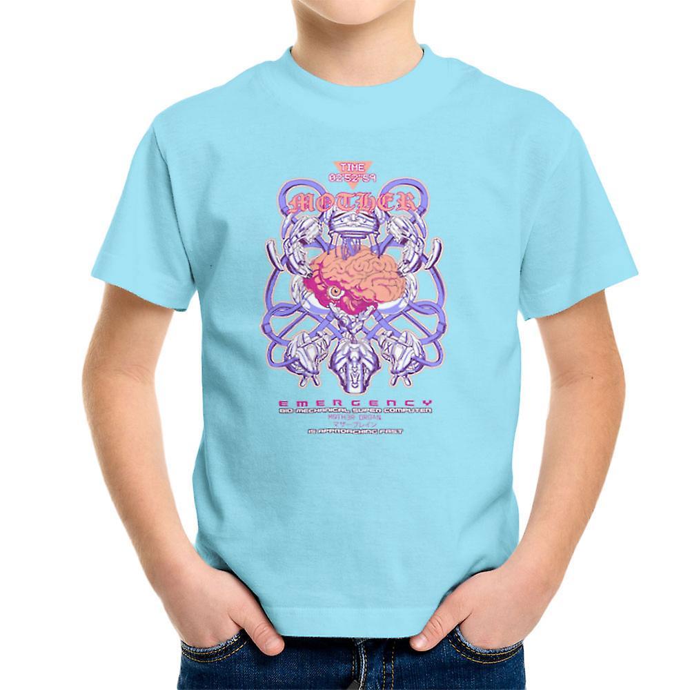 Mutter Bio Machanical Super Computer Gehirn Kinder T Shirt