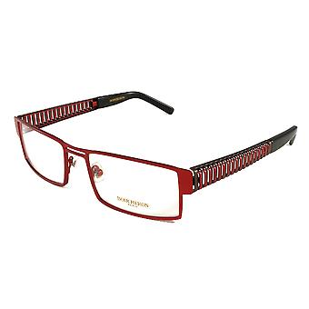 Boucheron Unisex Rectangular Eyeglasses Red/Gold