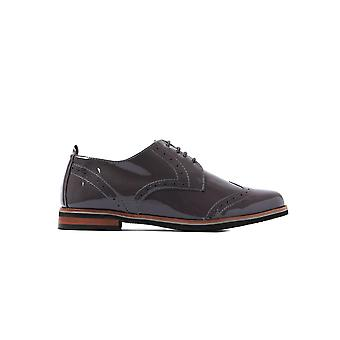 Women's Brogues - Grey Patent