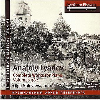 Solovieva - Lyadov: Comoplete klaver musik 3 & 4 [CD] USA importerer