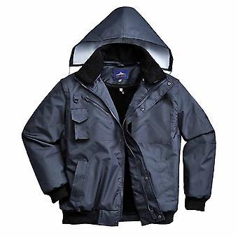 Portwest - 3-in-1 Waterproof Workwear Bomber Jacket With Hood
