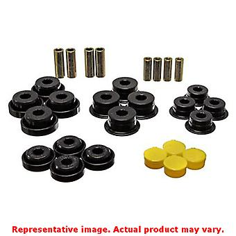 Energy Suspension Control Arm Bushing Set 2.3107G Black Rear Fits:JEEP 1997 - 2