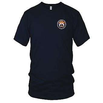 US Navy LST-603 USS Coconino County Embroidered Patch - Mens T Shirt