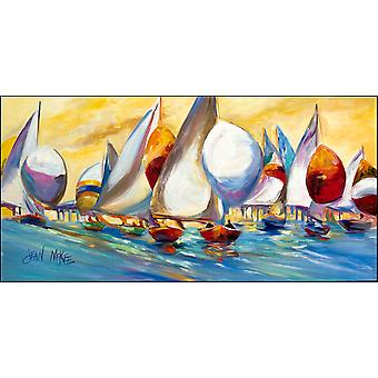 Sailboats from the Causeway Indoor or Outdoor Runner Mat 28x58