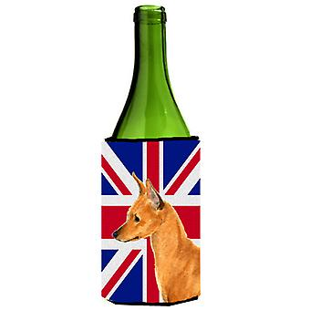 Min Pin with English Union Jack British Flag Wine Bottle Beverage Insulator Hugg