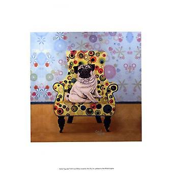 Pug-a-dots Poster Print by Carol Dillon (13 x 19)