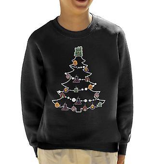 He Man Christmas Tree Baubles Kid's Sweatshirt