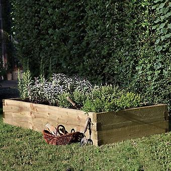 Forest Garden Caledonian Raised Wooden Vegetable Bed