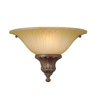 Stirling Castle British Bronze Wide Wall Light  - Elstead Lighting Fe/stirlingcasw2