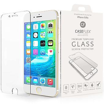 Caseflex iPhone 6 og 6s glasskærm protektor - Twin Pack