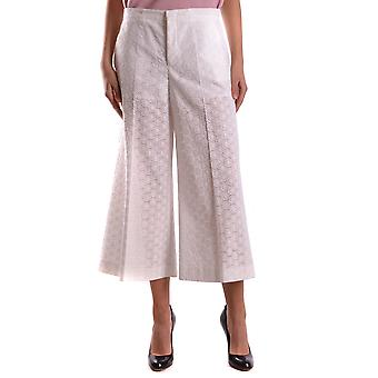 Red Valentino women's KR0RB0F528W001 white cotton pants
