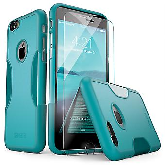 SaharaCase® iPhone 6/6s Oasis Teal Case, Classic Protective Kit Bundle with ZeroDamage® Tempered Glass