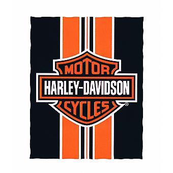 Harley-Davidson Logo and Striped Beach Blanket 54 in. X 68 in.