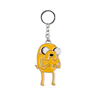 Adventure Time Keyring Keychain Jake new Official Yellow Metal