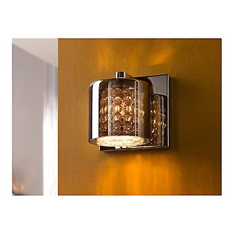 Schuller Schuller Denise Crystal Smoked Glass Wall Light Dome Shape