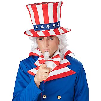 Uncle Sam Patriotic Men Costume Wig Chin Patch