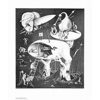 Hell Poster Print by MC Escher (22 x 26)