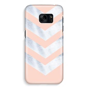 Samsung S7 Full Print Case - Marble arrows