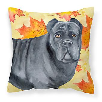 Carolines Treasures  BB9955PW1414 Cane Corso Fall Fabric Decorative Pillow