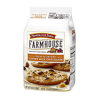 Pepperidge Farm Farmhouse Thin & Crispy Toffee Milk Chocolate Cookies