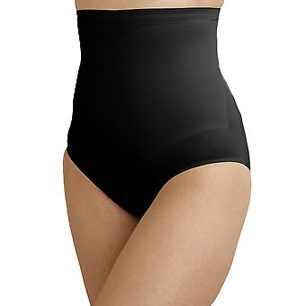 Cupid 2175-E Women's Black Solid Colour Firm/Medium Control Slimming Shaping High Waist Brief