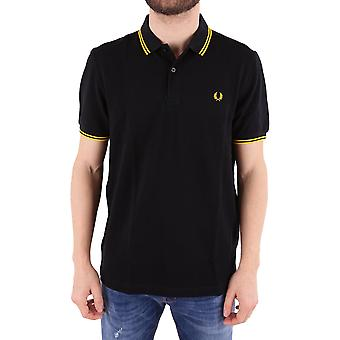 Fred Perry men's FPM360025506 black cotton polo shirt