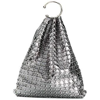Red Valentino women's PQ2B0751UJAP18 silver leather clutch