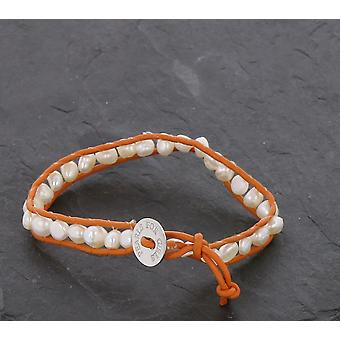 Pearl bracelet fashion jewelry of PEARLS FOR GIRLS Orange